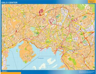 Biggest Oslo downtown map