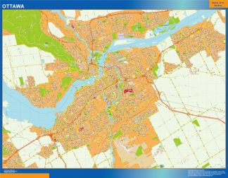 Biggest Ottawa wall map