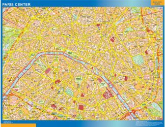 Biggest Paris downtown map