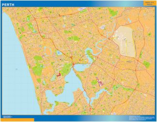 Biggest Perth laminated map