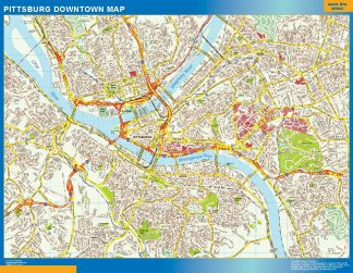 Biggest Pittsburg downtown map
