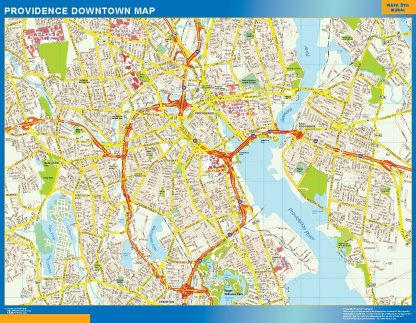 Biggest Providence downtown map