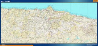 Biggest Province Asturias map from Spain