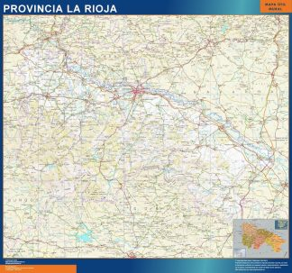 Biggest Province La Rioja map from Spain