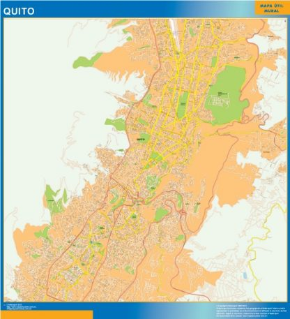 Biggest Quito wall map