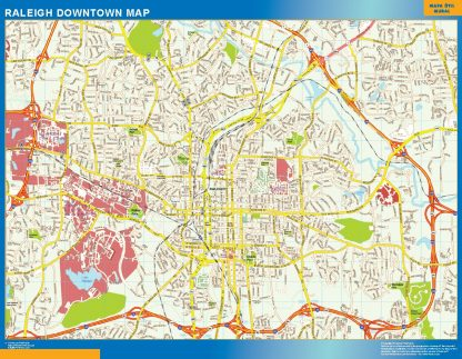 Biggest Raleigh downtown map
