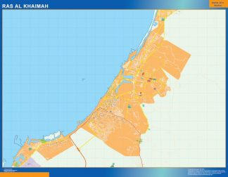 Biggest Ras Al Khaimah map in Emirates