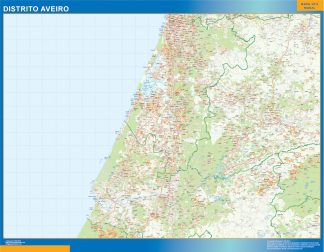 Biggest Region of Aveiro map in Portugal