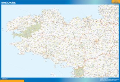Biggest Region of Bretagne map