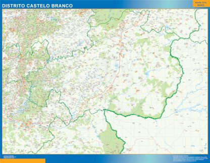 Biggest Region of Castelo Branco map in Portugal