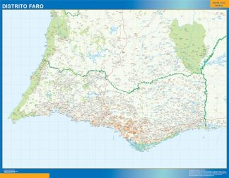 Biggest Region of Faro map in Portugal