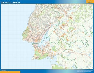 Biggest Region of Lisboa map in Portugal