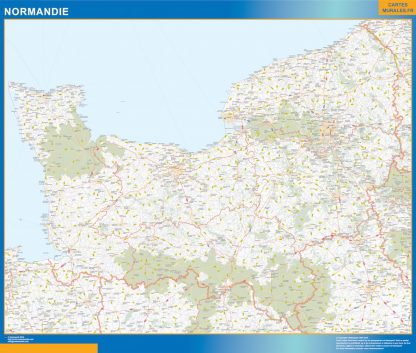Biggest Region of Normandie map
