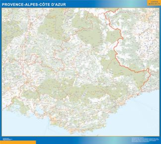 Biggest Region of Provence-alpes cote azur map
