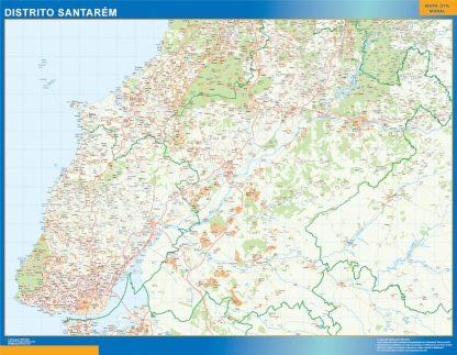 Biggest Region of Santarem map in Portugal