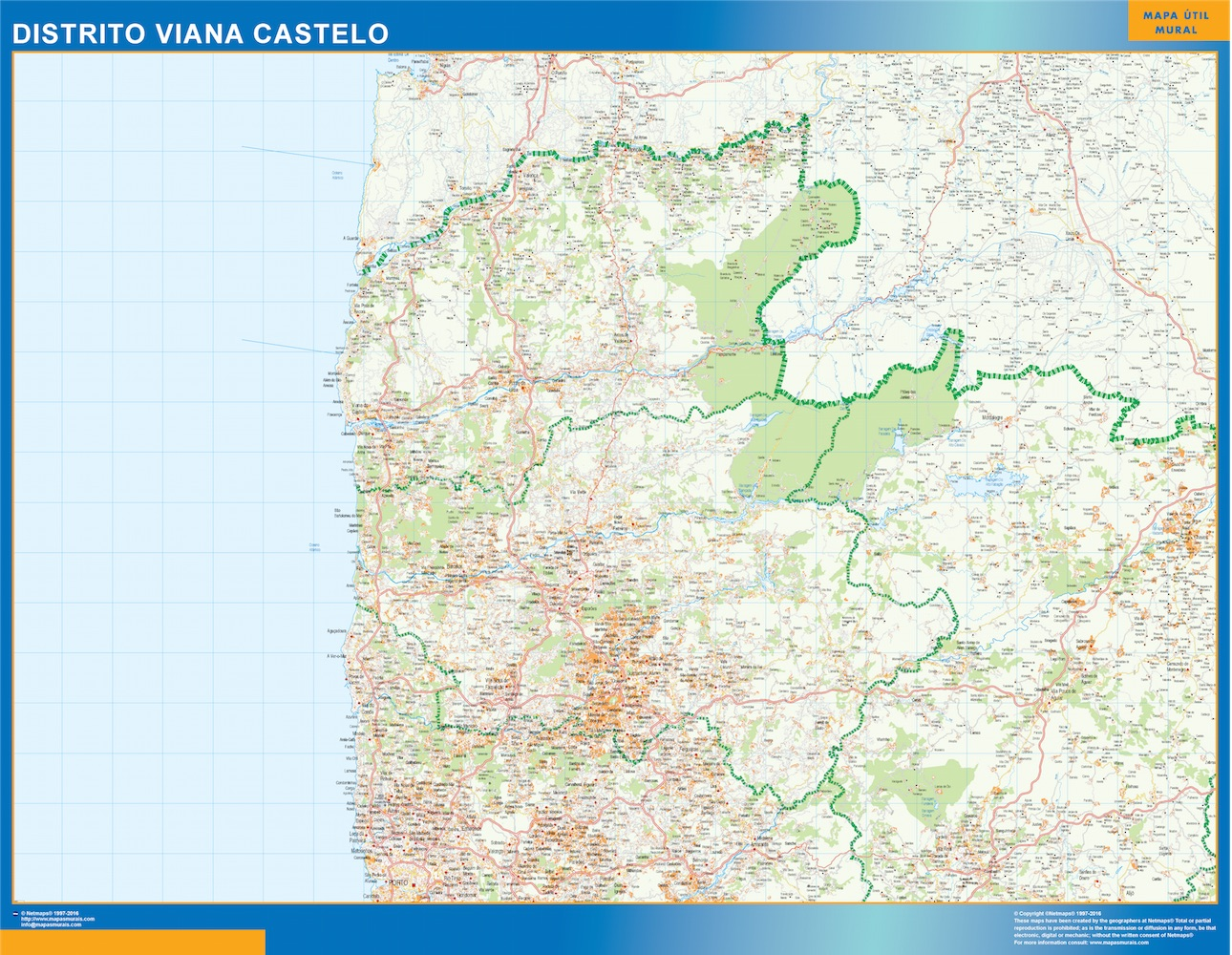 Region Of Viana Castelo Map In Portugal Wall Maps Of The World
