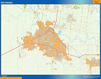 Biggest Reynosa map Mexico