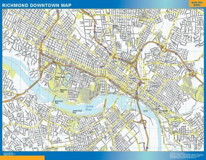 Biggest Richmond downtown map