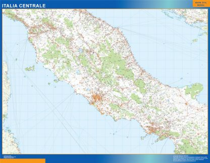 Biggest Road map Italy Central