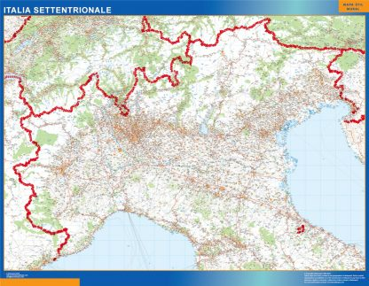 Biggest Road map Italy North