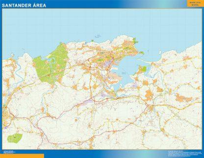 Biggest Road map Santander Spain