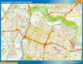 Biggest Sacramento downtown map