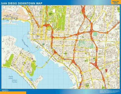 Biggest San Diego downtown map