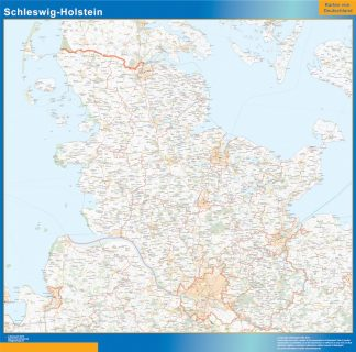 Biggest Schleswig-Holstein map