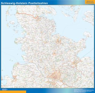 Biggest Schleswig-Holstein zip codes map