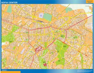 Biggest Sofia downtown map