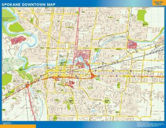 Biggest Spokane downtown map