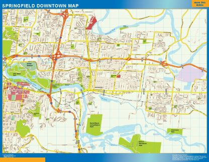 Biggest Springfield downtown map