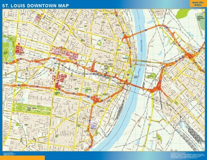 Biggest St Louis downtown map