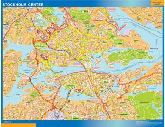 Biggest Stockholm downtown map