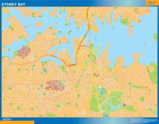 Biggest Sydney Bay laminated map