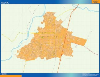 Biggest Talca map from Chile