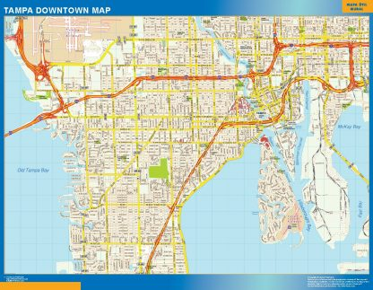 Biggest Tampa downtown map