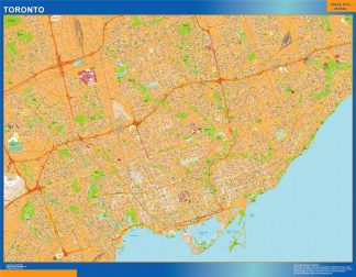 Biggest Toronto wall map