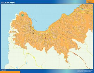 Biggest Valparaiso map from Chile