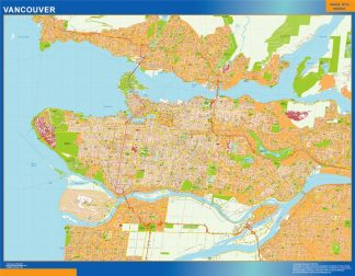 Biggest Vancouver wall map