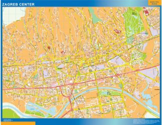 Biggest Zagreb downtown map