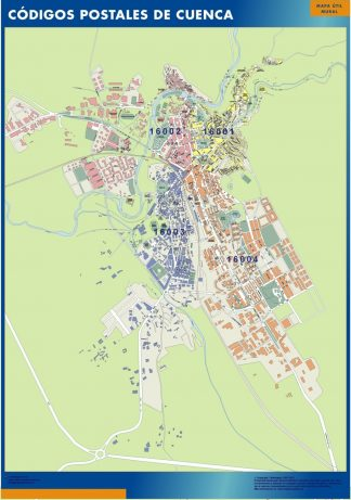 Biggest Zip codes Cuenca map