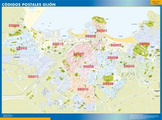 Biggest Zip codes Gijon map