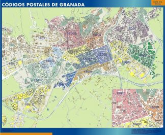 Biggest Zip codes Granada map