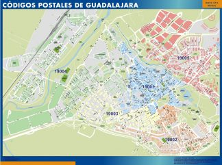 Biggest Zip codes Guadalajara map