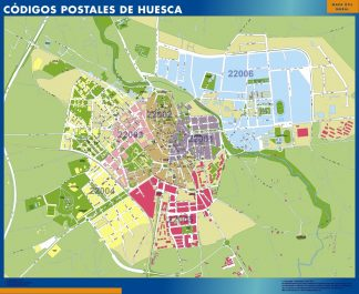 Biggest Zip codes Huesca map