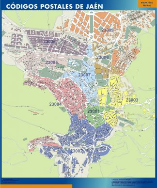 Biggest Zip codes Jaen map