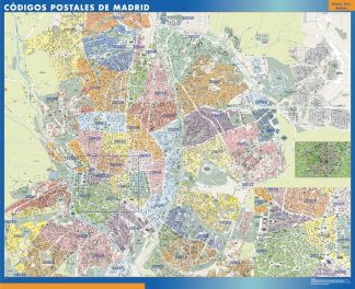 Biggest Zip codes Madrid map