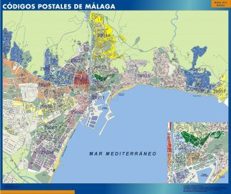 Biggest Zip codes Malaga map