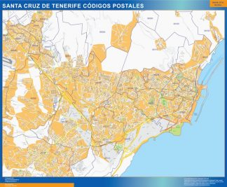 Biggest Zip codes Santa Cruz de Tenerife map